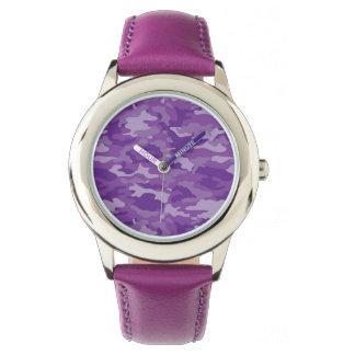 Fantastische lila Armee Uhr