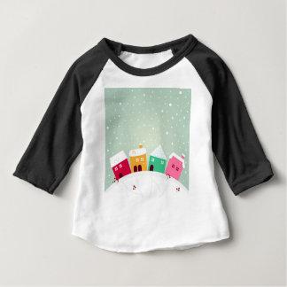 Fantastische Sammlung mit handdrawn Kunst-Dorf Baby T-shirt