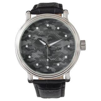 Fantastische schwarze Armee No4 Armbanduhr