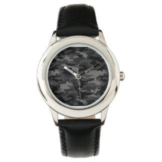 Fantastische schwarze Armee No6 Armbanduhr