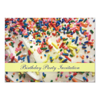 Fantastischer bunter gebackener Kuchen u. besprüht 12,7 X 17,8 Cm Einladungskarte
