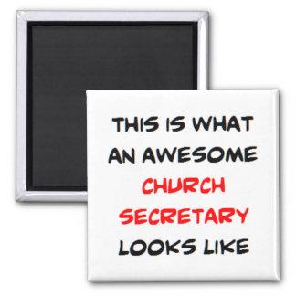 fantastischer Kirchensekretär Quadratischer Magnet