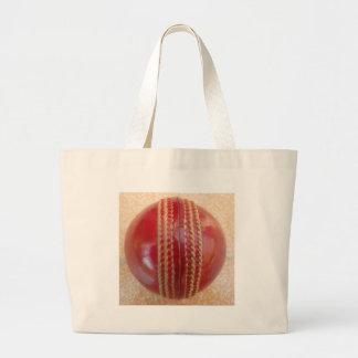 Fantastischer schöner roter Kricket-Ball Jumbo Stoffbeutel