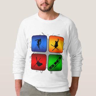 Fantastischer Ski-städtische Art Sweatshirt