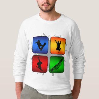 Fantastischer Snowboarding-städtische Art Sweatshirt