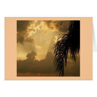 Fantastischer Sonnenuntergang Grußkarte