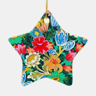 Fantastischer VolksBlumen-Garten Keramik Ornament