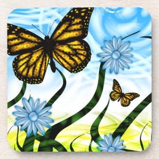 Fantastisches grafisches Schmetterlings-Flattern Untersetzer