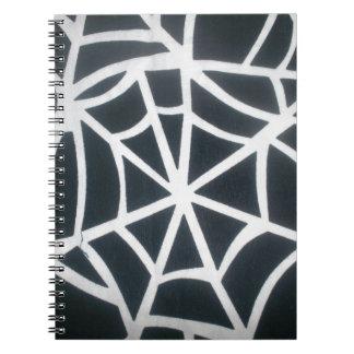 Fantastisches weißes und schwarzes Netz Spiral Notizblock
