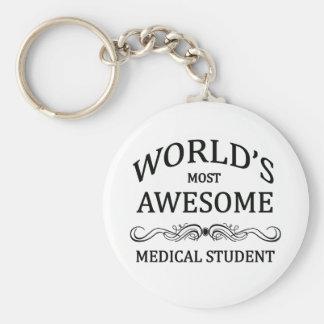 Fantastischste medizinische Student der Welt der Standard Runder Schlüsselanhänger