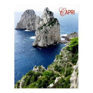 Faraglioni Stapel, Capri, Italien Postkarte