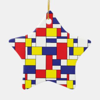 Farbblöcke Keramik Ornament
