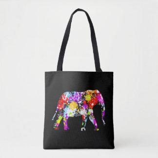 Farbe gespritzter Elefant ganz über