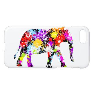 Farbe gespritztes Elefant kundenspezifisches iPhone 8/7 Hülle