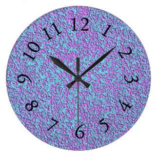 Farbe-Pigment-Fushia-Türkis - Uhr