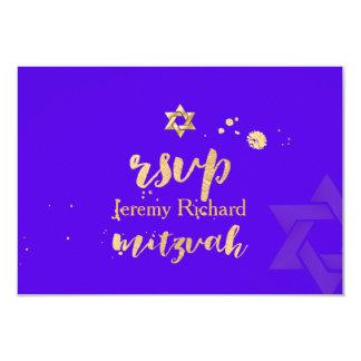 Farbe PixDezines uAwg DIY, Bar Mitzvah 8,9 X 12,7 Cm Einladungskarte