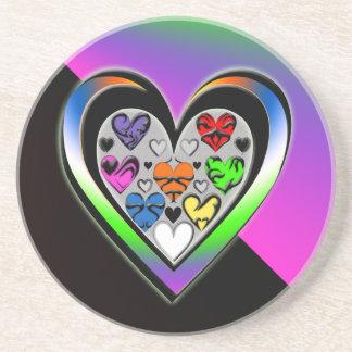 Farben der Liebe Untersetzer