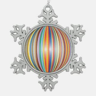 Farben des Regenbogens Schneeflocken Zinn-Ornament