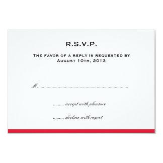 Färben Sie einfach Grenzrote Hochzeits-uAwgantwort 8,9 X 12,7 Cm Einladungskarte