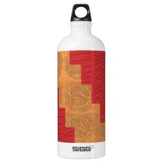 Färben Sie Freude, GOLDkreis-EINZIGARTIGE ROTE Aluminiumwasserflaschen