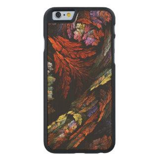 Färben Sie Harmonie-abstrakte Kunst Carved® iPhone 6 Hülle Ahorn