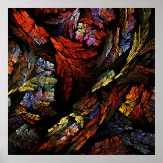 Färben Sie Harmonie-abstrakten Kunst-Druck Poster