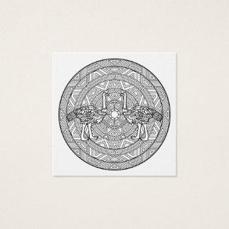 Färben Sie Ihre eigenen Malbuch-Mandala-Tiere Quadratische Visitenkarte