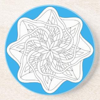 Färben Sie mich - Mandala - kundenspezifische Getränkeuntersetzer