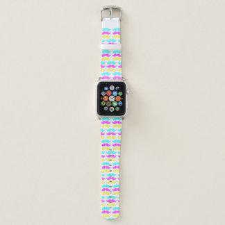 Färben Sie Stache Gesichtshaar-bunte Schnurrbärte Apple Watch Armband