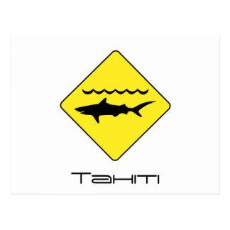 """Färben Sie Tahiti-Postkarte Zeichen """"der warnenden Postkarte"""