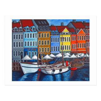 Farben von Nyhavn Postkarte