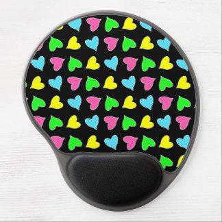 Farbige Herzen Gel Mousepads