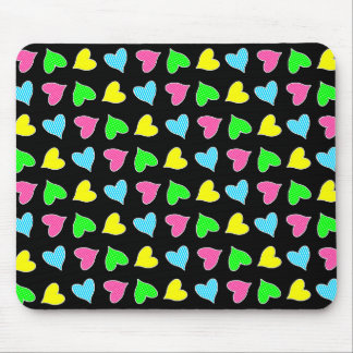 Farbige Herzen Mousepads