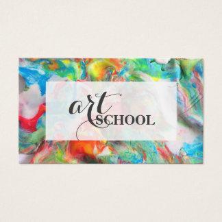 Farbige Plasticine-Kunstakademie - Visitenkarte