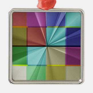 Farbige Quadrate keine 13 durch Tutti Quadratisches Silberfarbenes Ornament