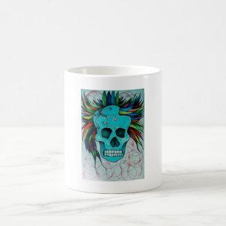 Farbiger Totenkopf Kaffeetasse