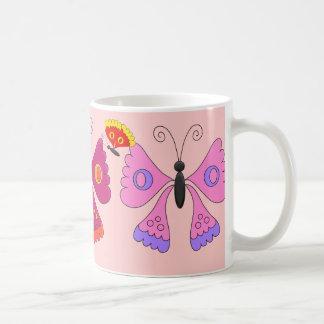 Farbiges der Schmetterlings-Set des Tasse
