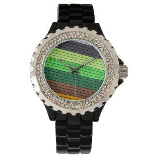 farbiges Papier des Musters Uhr