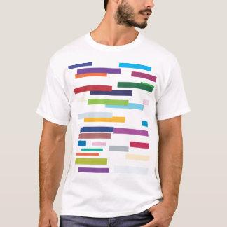 Farbiges Streifen-Erwachsen-T-Shirt T-Shirt