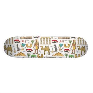 Farbsymbole von Ägypten-Muster 19,1 Cm Old School Skateboard Deck