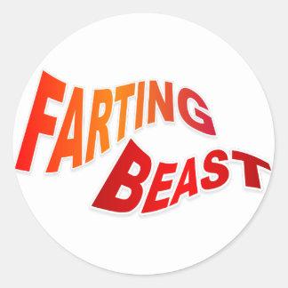 FARTING TIER - unglaublich witzig Anspielungs-Spaß Runder Aufkleber