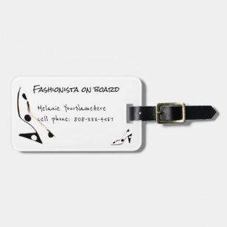 Fashionista-niedlicher Schuh-Reisender Gepäckanhänger