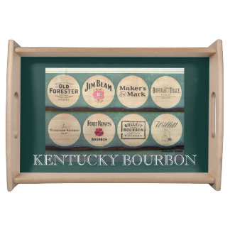 Fass-Deckel-Foto-Serviertablett Kentuckys Bourbon Tablett