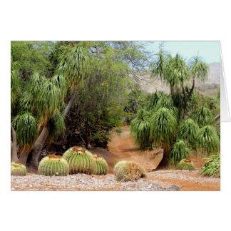 Fass-Kaktus-Blüten Grußkarte