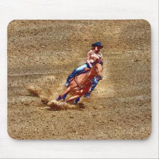 Fass-Laufen von Rodeo-Cowgirl-Designer #Gift Mousepad