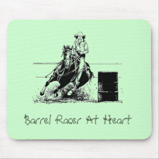 Fass-Rennläufer am Herzen Mousepad
