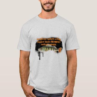 Fast fangend, T - Shirt fischend
