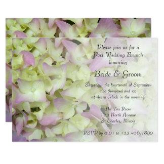 Fast rosa Hydrangea-Blumenposten-Hochzeits-Brunch 12,7 X 17,8 Cm Einladungskarte