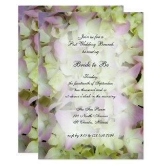 Fast rosa Hydrangea-Posten-Hochzeits-Brunch laden 12,7 X 17,8 Cm Einladungskarte