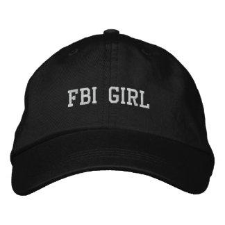 FBI-MÄDCHEN BESTICKTE KAPPE